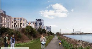 Coastal park montage. Photograph: Dublin City Council