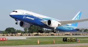 The 787 Dreamliner is the first airliner built of spun carbon-fibre composites rather than aluminium and entered commercial service in 2011. Photograph: iStock