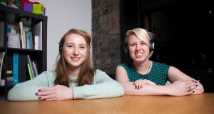 Founded by Rhona Togher (left) and Eimear O'Carroll, Restored Hearing developed Sound Bounce, an insert for a standard pair of earmuffs that can respond to an increase of decrease in noise levels, protecting the wearer's hearing from sudden loud noises but also allowing them to hear conversation when the noise levels are lower
