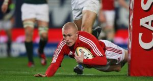 Keith Earls in action for the British and Irish Lions in 2009. The Munster man did not feature in the preceding Six Nations tournament for Ireland. Photograph: David Rogers/Getty Images