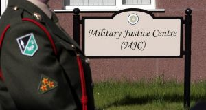 Six army cases were heard at the Military Justice Centre at McKee Barracks in Dublin in 2016. Photograph: Eric Luke