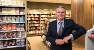 "Eason chief executive Conor Whelan: core books category is ""showing positive signs of improvement"". Photograph: Shane O'Neill Photography."