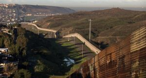 View of the border line between Mexico and the US in Tijuana, northwestern Mexico. Photograph: Guillermo Arias/AFP/Getty