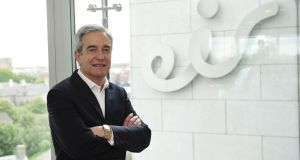 "Richard Moat, chief executive of Eir: ""Our vision for our customers is a converged future."" Photograph: Aidan Crawley"