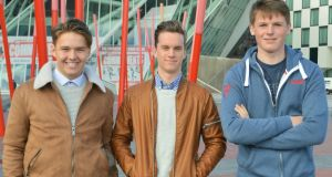 Adam Dalton, Evan Darcy   and Shane Curran: creators of a new DIY robotics kit called Alpha from their company Robotify