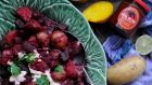Ethiopian potato and beetroot with lime and harissa yogurt