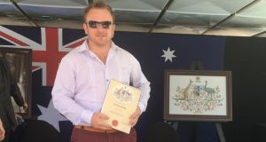 Ollie Gordon from Easkey in Co Sligo, now director at TradeConnex Construction & Labour Hire in Sydney, became an Australian citizen last year.