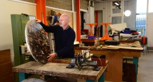 Gerard Griffin, working in Rediscover Furniture, at the Rediscovery Centre, in The Boiler House, Ballymun, Dublin. Photograph: Dara Mac Dónaill