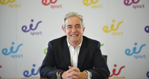 Richard Moat, CEO of Eir: doesn't see underlying revenues of €666 million  as an omen. Photograph: Aidan Crawley