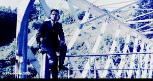 Val Sweeney c1962 sitting on the bridge