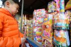Fireworks go on sale in Beijing earlier this month. Photograph: Kyodo News/Getty Images