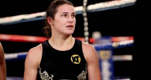 Ireland's Katie Taylor was due to have her third professional fight in New York on St Patrick's weekend. Photograph: Ryan Byrne/Inpho