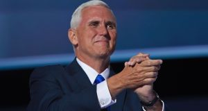 "Vice-president Mike Pence praised ""the election of pro-life majorities"" in the US Congress"