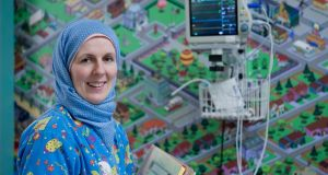 Brigid Aylward, paediatric nurse at the University Hospital Waterford: she converted to Islam after working in Saudi Arabia. Photograph: Bara Alich Photography