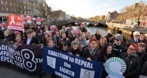 Coalition to Repeal the Eighth Amendment rally in Dublin in 2016. File photograph: Alan Betson