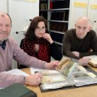 Críostóir Mac Cárthaigh,  Dr Deirdre Nuttall   and David Woods at the National Folklore Collection UCD Belfield. Photograph: Eric Luke