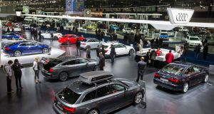 The Audi showroom at the Brussels Motor Show in Belgium, which ran from from January 14th-22nd. Photograph: Stephanie Lecocq/EPA