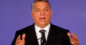 "Viktor Orban: The Hungarian prime minister said that, thanks to Donald Trump, ""the western world [has] the chance to free itself from the captivity of ideologies, of political correctness"". Photograph: Reuters/Laszlo Balogh"