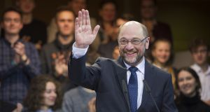 "Martin Schulz: The imminent leader of Germany's Social Democrats favours a ""liberal but not stupid"" approach to refugees and dismisses Donald Trump as ""outrageous and dangerous"". Photograph: Steffi Loos/Getty Images"