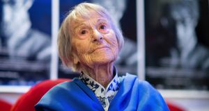 Brunhilde Pomsel, former secretary of propaganda minister Goebbels, has died. She was 106. Photograph: Matthias Balk/dpa via AP