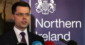 Northern Secretary James Brokenshire has been accused of snubbing the Irish national anthem after he was absent for the playing of Amhrán na bhFiann at the McKenna Cup final. Photograph: Niall Carson/PA Wire.