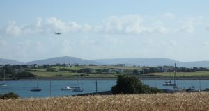 Aircraft surveying in Co Galway. Credit: Sander Geophysics Ltd and Geological Survey Ireland