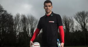 Seamus Coleman, pictured at the launch of the SPAR Better Choices  campaign, believes Everton can still break into the Premier League's top six. Photograph: Ramsey Cardy/Sportsfile