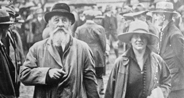 George Plunkett with his wife Mary. Plunkett's son Joseph Mary, a signatory of the Proclamation, had been executed in 1916.