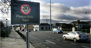 More than two-thirds (68 per cent) of motorists support the introduction of 30km/h speed limits in city centre areas. Photograph: Dara Mac Dónaill