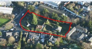 The Swords site extends to 1.34 acres and includes four detached houses in need of upgrading at the junction of Church Road and Bridge Street.