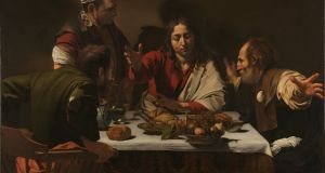 The Supper at Emmaus (cropped) by Michelangelo Merisi da Caravaggio, oil on canvas. Photograph: The National Gallery, London