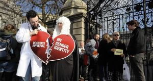 Historic change: in 2015 Ireland removed medical criteria from the legal recognition of gender. Photograph: Dave Meehan