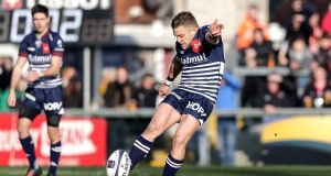 Ian Madigan: his move to  Bordeaux-Begles has effectively removed him fromthe Ireland  frame. Photograph: Morgan Treacy/Inpho