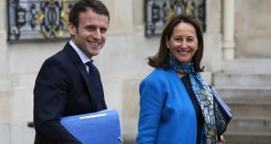 "Emmanuel Macron and Ségolène Royal: François Hollande's former domestic partner judged ""this little one"" Macron to be presidential material. Photograph: Thomas Samson/AFP/Getty Images"