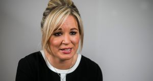 "Michelle O'Neill: The new Sinn Féin leader at Stormont called it ""regrettable"" that the DUP is standing against those in Northern Ireland who voted to remain. Photograph: Liam McBurney/PA Wire"