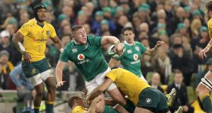 "Tadhg Furlong in action against Australia last November. ""Test matches  take so much out of you physically, mentally, emotionally."" Photograph: Morgan Treacy/Inpho"