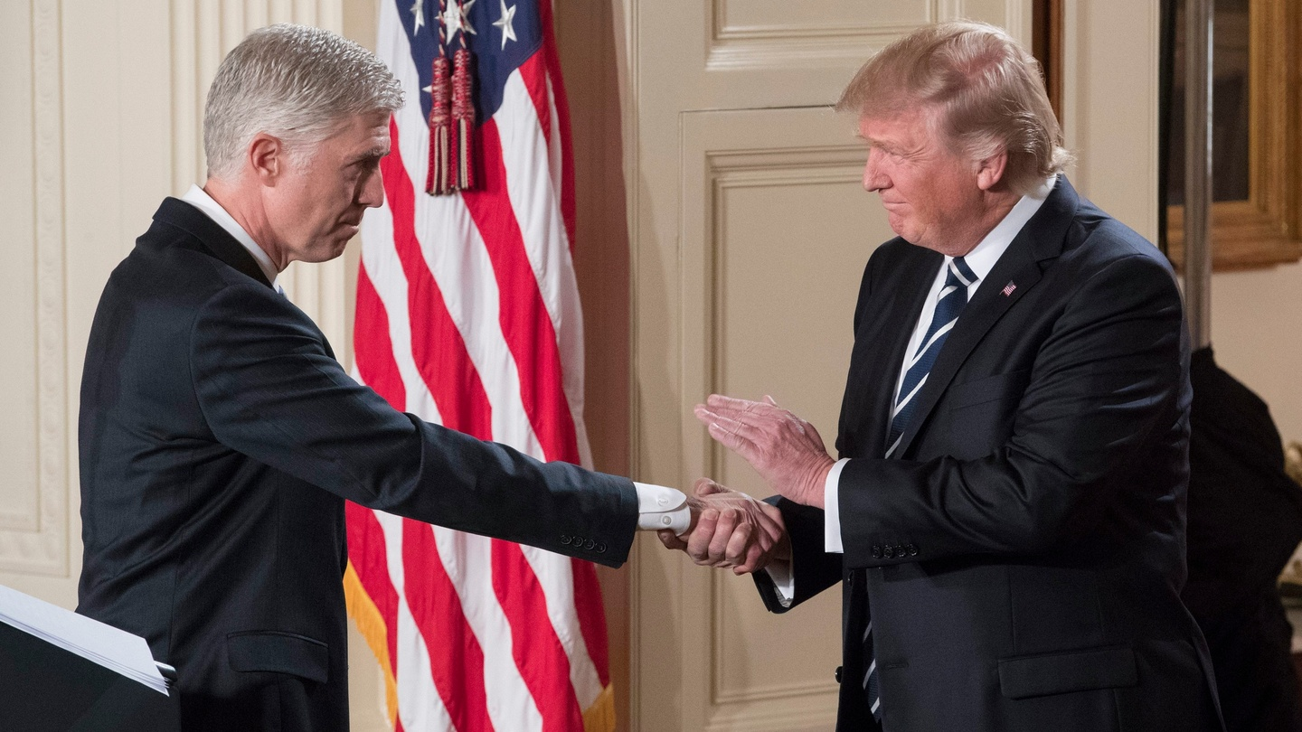 Russian intervention in us election was no one off irish times - Us President Donald J Trump Shakes Hands With Neil Gorsuch Left After Announcing
