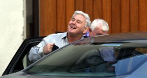 John Gilligan released from Portlaoise Prison in 2013. Photograph: Alan Betson/The Irish TImes