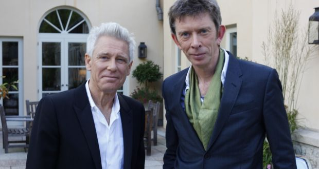 Arts critic  and musician Adam Clayton with arts critic and musician John Kelly