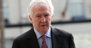 Former Anglo Irish Bank chairman Seán FitzPatrick arriving for his trial at the Circuit Criminal Court on Wednesday. Photograph: Collins Courts