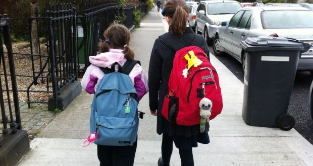 Research indicates most Irish schoolchildren carry schoolbags that weight more than 10 per cent of their bodyweight. Photograph: Bryan O'Brien