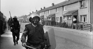 British army soldiers on patrol in Derry in 1971. File photograph: Darde/AFP/Getty Images