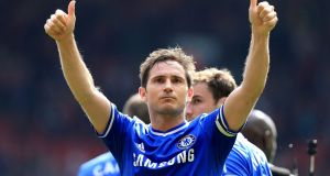 Chelsea's  Frank Lampard has announced his retirement from football at the age of 38. Photograph: Peter Byrne/PA