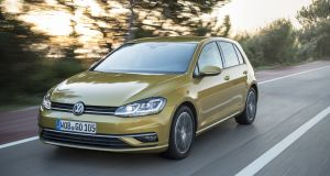The new Volkswagen Golf will arrive in March and the three-door entry-level grade model starts at €20,895