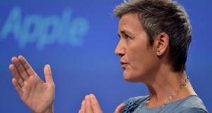 European Commissioner Margrethe Vestager told an Oireachtas committee that 'fighting aggressive tax planning practices should make countries such as Ireland and others an even better place in which to invest'. Photograph: Eric Vidal/Reuters