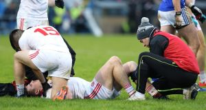 The  loss of Connor McAliskey will be a blow for Tyrone. Photograph: Andrew Paton/Inpho