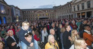 Dublin Castle during Culture Night in 2016: in choosing where to settle down, individuals will consider the range of job opportunities and the potential lifestyle. Photograph: Dave Meehan