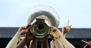 The Leinster Schools Senior Cup trophy. Photograph: Dan Sheridan/Inpho