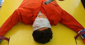 Torture: a re-creation of waterboarding, which President Trump says works. Photograph: Mario Tama/Getty