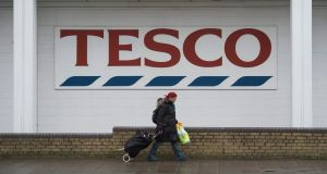 Tesco is Ireland's largest private employer, with 14,500 workers. Photograph: Will Oliver/EPA